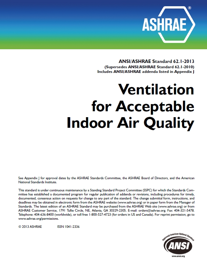 Ashrae releases revised version of iaq standard for Table 6 4 minimum exhaust rates